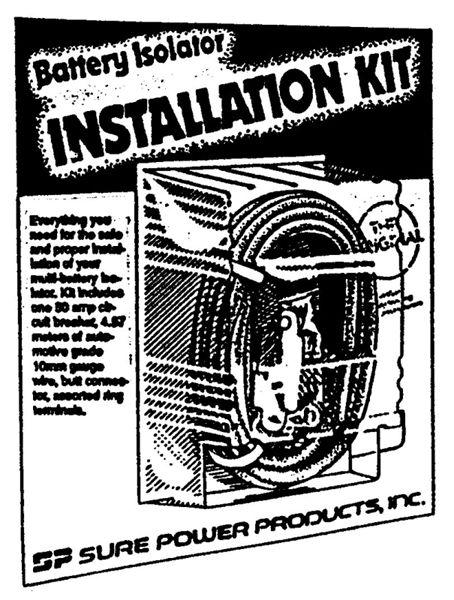 m 3003 Dual Battery Installation Kit additional image multi battery isolator application chart